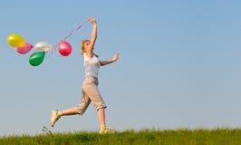 Menina com balão Imagens de Stock