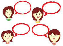 Menina com balão do diálogo Imagens de Stock Royalty Free