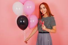 Menina com balões foto de stock royalty free