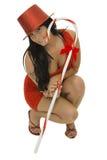 Menina com bastão de doces Fotos de Stock