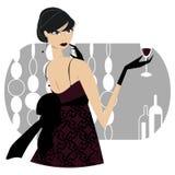 Menina com bebida ilustração royalty free
