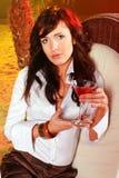 Menina com bebida exótica Foto de Stock Royalty Free