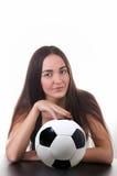 Menina com bola Imagem de Stock Royalty Free