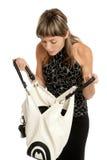 Menina com bolsa Foto de Stock