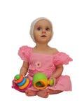 Menina com brinquedos Imagens de Stock Royalty Free
