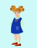 Menina com cabelo alaranjado Imagem de Stock