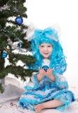 Menina com cabelo azul Imagens de Stock Royalty Free