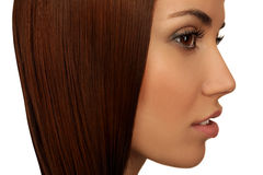 Menina com cabelo bonito foto de stock royalty free