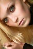 A menina com cabelo bonito Imagem de Stock Royalty Free