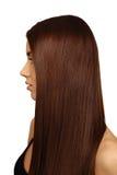 Menina com cabelo bonito longo imagens de stock royalty free