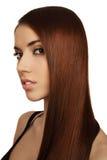 Menina com cabelo bonito longo fotografia de stock royalty free