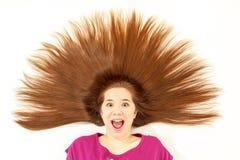 Menina com cabelo cravado Imagem de Stock