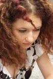 Menina com cabelo curly Imagem de Stock Royalty Free