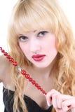 Menina com cabelo curly fotos de stock royalty free