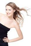 Menina com cabelo de vibração foto de stock royalty free