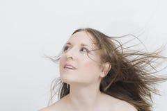 Menina com cabelo do vôo Imagem de Stock Royalty Free