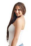 Menina com cabelo dos dreadlocks Foto de Stock Royalty Free