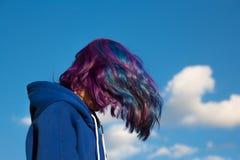 Menina com cabelo extremo Foto de Stock Royalty Free