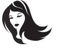 Menina com cabelo longo Fotos de Stock Royalty Free