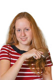 Menina com cabelo longo Imagens de Stock Royalty Free
