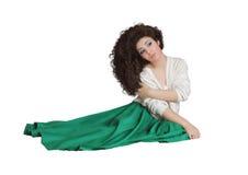 A menina com cabelo longo Imagem de Stock