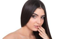 Menina com cabelo longo fotografia de stock