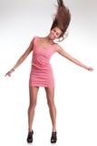 Menina com cabelo longo do vôo Imagens de Stock Royalty Free
