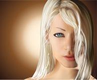 Menina com cabelo louro reto fotografia de stock royalty free
