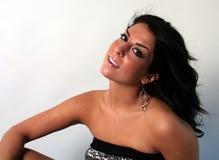 Menina com cabelo preto Imagem de Stock