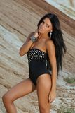 Menina com cabelo preto Fotos de Stock