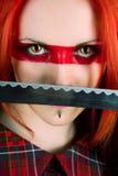 Menina com cabelo vermelho Foto de Stock