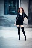 Menina com cabelo vermelho Imagens de Stock Royalty Free