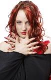 A menina com cabelo vermelho Imagem de Stock Royalty Free