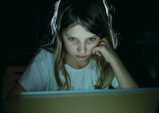 Menina com caderno Imagem de Stock Royalty Free