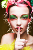 Menina com cara creativa imagem de stock royalty free