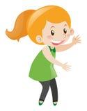 Menina com cara feliz Imagens de Stock Royalty Free