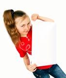 Menina com cartão Fotos de Stock Royalty Free