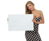 Menina com cartão Foto de Stock