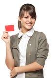 Menina com cartão de crédito imagens de stock