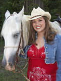 Menina com cavalo Foto de Stock Royalty Free