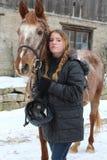 Menina com cavalo Foto de Stock