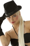 Menina com chapéu fotos de stock royalty free