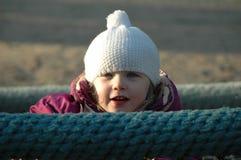 Menina com chapéu branco Imagens de Stock