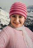 Menina com chapéu e lenço Foto de Stock