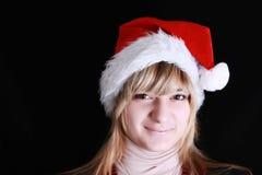 Menina com chapéu vermelho Fotos de Stock