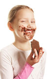 Menina com chocolate Foto de Stock Royalty Free