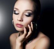 Menina com composição bonita Fotografia de Stock