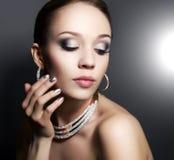 Menina com composição bonita Fotografia de Stock Royalty Free