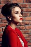 Menina com composição brilhante Imagem de Stock Royalty Free