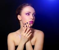 Menina com composição bonita Foto de Stock